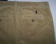 NWT Polo Ralph Lauren Khaki Corduroy Cord Flat-Front Pants Boys 20 NAVY PONY