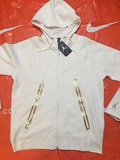 Size L AIR JORDAN LITE FLEECE FULL-ZIP HOODIE 724786-100 GOLD 5 11 OLYPIC OVO 12