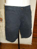Short bermuda coton épais bleu marine SUPERDRY L W32 42FR 19ET1