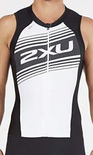 2Xu Men's Small Black White Compression Full Zip Trisuit Triathlon with Pad New