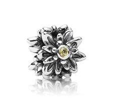 NEW! Authentic Pandora Edelweiss Flower Yellow CZ Charm #791176CZY RETIRED