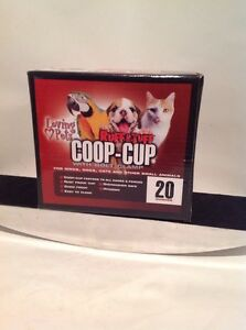 Stainless Steel Coop-Cup Bird & Dogs & Cats  20 Oz Coop Cup W/ Bolt Holder