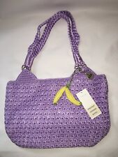The Sak  Star Fruit Mystic Crochet Lavender Medium Shopper Tote Bag  NEW