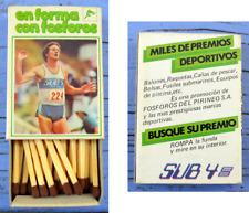 Boîte d'allumettes Espagne, vers 1980, athlétisme, fosforos del pirineos s.a