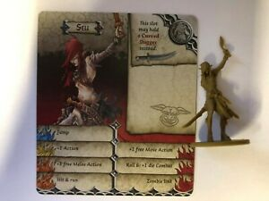 SELI FIGURE AND GAME CARD - ZOMBICIDE GREEN HORDE - COOL MINI OR NOT