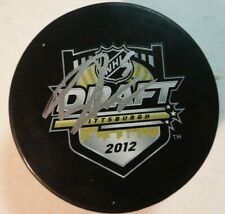 Autographed DERRICK POULIOT Signed 2012 NHL Draft Pittsburgh Penguin Hockey Puck