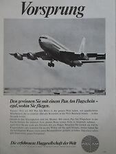 6/1967 PUB COMPAGNIE PAN AM AIRLINE BOEING AIRLINER ORIGINAL GERMAN AD