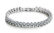 Women,Girls 18K Platinum Plated Stunning Bracelet with High Class Crystals