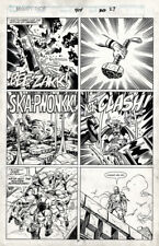 MIGHTY THOR #414 pg 27 original comic art - Ron Frenz & Joe Sinnott