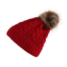 Womens Crochet Knitted Wolly Pom Pom Beanie Caps Winter Warm Casual Berets Hats
