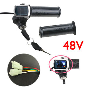 48V ebike e-bike scooter twist throttle with LCD battery display and key lock