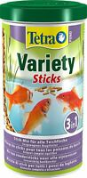 Tetra Pond Variety Sticks 1L / 150g - Mix of 3 Different Food Sticks For Fish