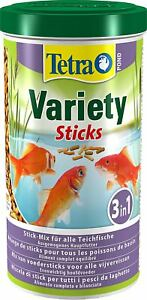 Tetra Pond Variety Sticks 1L / 150g - Mix of 3 Different Food Sticks For Fish
