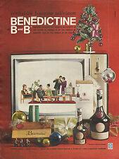 Publicité Advertising 1964  Boisson BENEDICTINE B and B