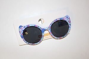 Gymboree Cat Eye Sunglasses Girls 4 and up Sunglasses NEW Blue Floral NWT
