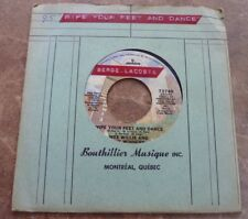 45 RPM  Wee Willie and the Winners Wipe Your Feet and Dance / Toe Jam 95
