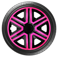 "4x Wheel Covers Hub Caps 14Inch Universal Wheel Trims ABS 14"" Trim [AKTNPINK]"