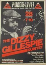 THE DIZZY GILLESPIE QUINTET JAZZ BAND GREEK POSTER LIVE RODON ATHENS GREECE 1991