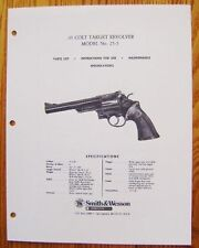 Smith & Wesson 45 Colt Target Revolver Model 25-5 Manual - #SW22