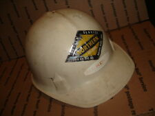 Vintage Jackson fiberglass hard hat white MN sc-10 with suspension