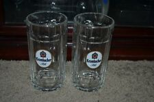 Set of 2 HTF German Krombacher 0.5L Pils Eine Perle Natur Beer Stein Mugs EXCL!!