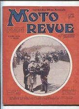 Moto Revue N°279 ; 14  juillet  1928 : moto sacoche 500cc avec sidecar