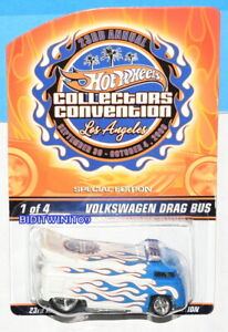 HOT WHEELS 23RD ANNUAL CONLLECTORS CONVENTION VOLKSWAGEN DRAG BUS #1378/3000 W+