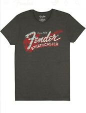 GENUINE FENDER STRATOCASTER T-SHIRT Distressed Vintage Style Size XL