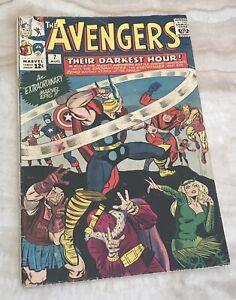 AVENGERS #7-CAPTAIN AMERICA-IRON MAN-THOR-JACK KIRBY-1964 VG 4.0