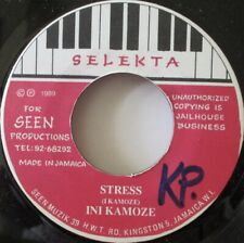 "INI KAMOZE - Stress ~ 7"" Single JA PRESS"