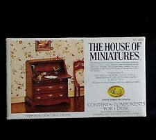 X-Acto House of Miniatures Chippendale Desk Kit with Box Vintage No. 40017