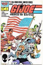 GI MARVEL COMIC G.I. JOE    Order of Battle   #1    Direct  Edition  VF