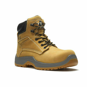V12 PUMA Safety Boots in Honey LEATHER COMPOSITE TOECAP & MIDSOLE METAL FREE