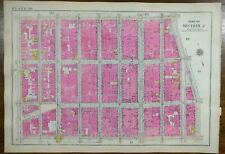 Vintage 1916 Soho Manhattan New York City Map ~ Grand St Prince St Spring St