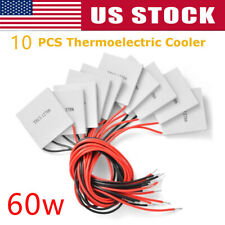 10 x TEC1-12706 Heatsink Thermoelectric Cooler Peltier Plate Module 12V 60W 6A