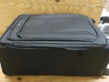 Samsonite Lineate Softside Expandable Luggage with Spinner Wheels, Obsidian Blac