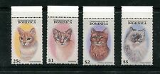 DOMINICA 1937-40, 1997 CATS, MNH (DOM003)