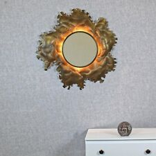 Poseidon Antique Copper Stitching Light Wall Mirror