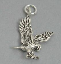 American BALD EAGLE Bird Solid Sterling Silver 925 Pendant Charm Pendant 878