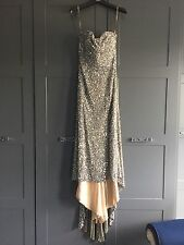 Amazing Sherri Hill argento da sera Prom Dress Abito da ballo