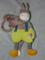 MOULIN ROTY DONKEY COMFORTER SOFT TOY LES COUSINS SOOTHER BLANKIE DOUDOU