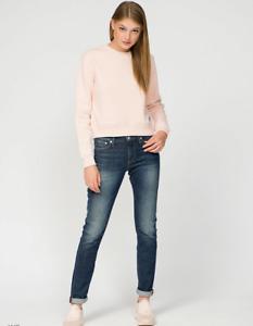 Calvin Klein Women`s Jeans Size 28 Mid Rise Slim W28 L32 CKJ 021