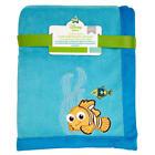 Finding Nemo Coral Fleece Blanket by Disney Baby- Blue