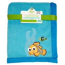 Finding Nemo Coral Fleece Blanket by Disney Baby- Blue