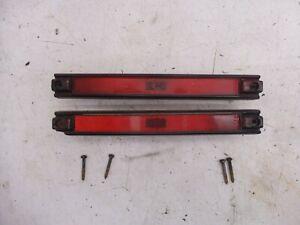 84-88 FIERO ORIGINAL RED REAR SIDE MARKERS LIGHT PONTIAC GM 16501539 16501540