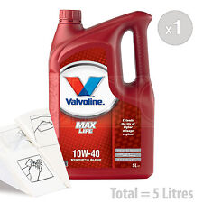 Car Engine Oil Service Kit / Pack 5 LITRES Valvoline MaxLife 10w-40 5L