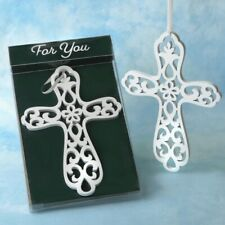20 Heaven Sent White Wood Cross Ornament Baptisms Communion Religious Favors