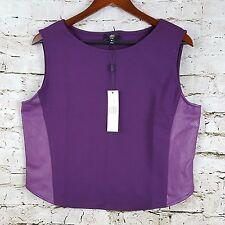 ABS Allen Schwartz Womens Size M Tank Top Denim Collection Plum Purple Shirt