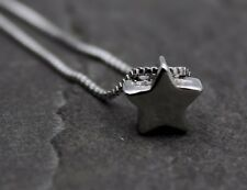 Halskette Kette 925 Sterling Silber Stern Sternchen Perle Anhänger Geschenk NEU