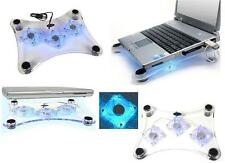 SUPPORTO NOTEBOOK 3 VENTOLE CON LED COOL PAD TAVOLETTA USB NEW